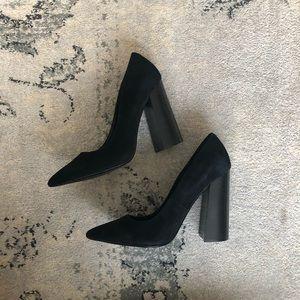 a5abe717827 Steve Madden Shoes - Steve Madden Loretta Black Suede Block Heel